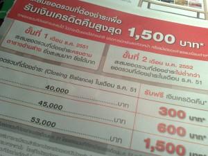 โปรโมชันล่อใจ .. ชักชวนให้คนไทยเป็นหนี้