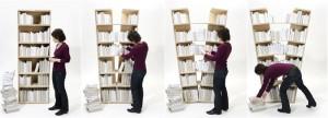 Platzhalter Bookshelf - ชั้นหนังสือยืดได้รูปตัว V