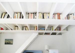 ชั้นวางหนังสือบนเพดาน -- ปีนก่อนอ่าน